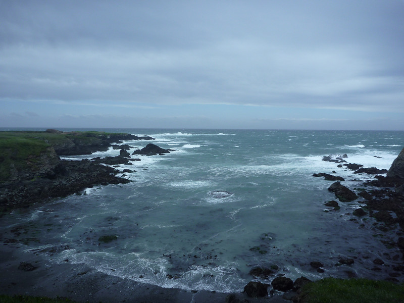 A stormy day at Mendocino Headlands State Park, California