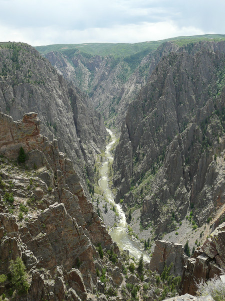 A view of the river from the North Rim edge of Black Canyon of the Gunnison National Park